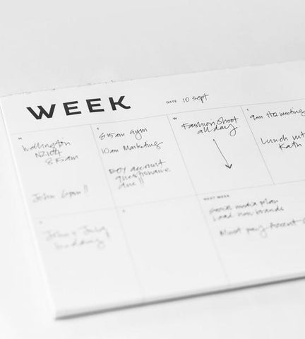 A4 week planner from Father Rabbit