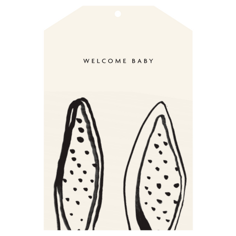 WELCOME BABY gift tag