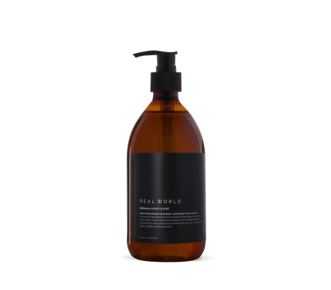 manuka honey and rose hand wash by Real World