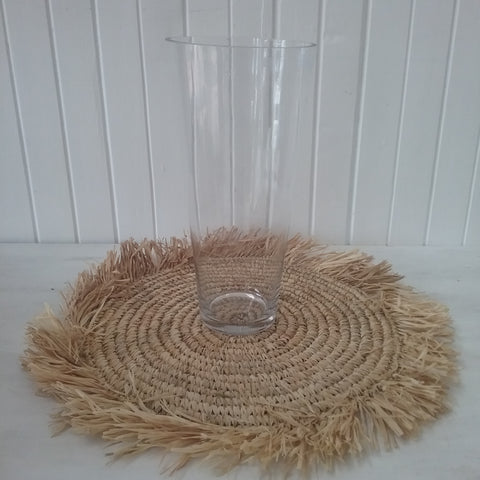 34cm taper glass vase