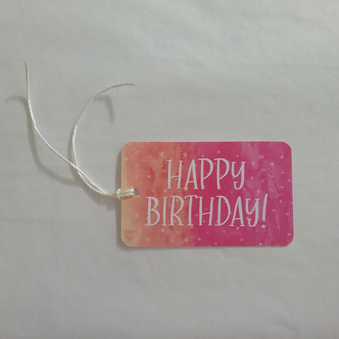 HAPPY BIRTHDAY inkbomb tag - pink