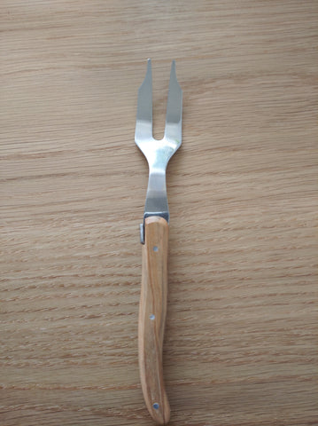 wooden short fork by Laguiole
