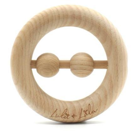 liam beechwood teether and rattle by Lulu + Lala