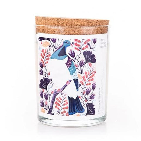 catherine marion artwork soy candle coconut + mandarin