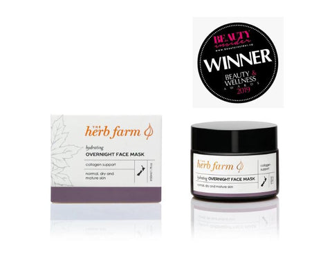 overnight hydrating face mask by The Herb Farm
