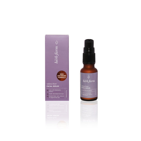 radiance boost facial serum by The Herb Farm