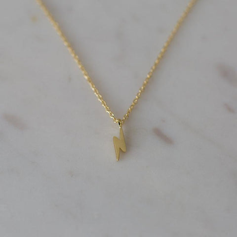 gold plated flashy necklace by Sophie