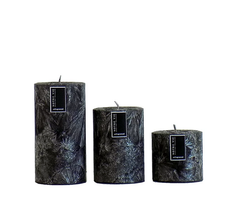 pillar saison black -small- candle by Notre Vie