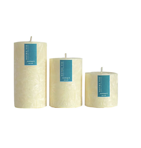 woodsage and sea salt small saison candle by Notre Vie