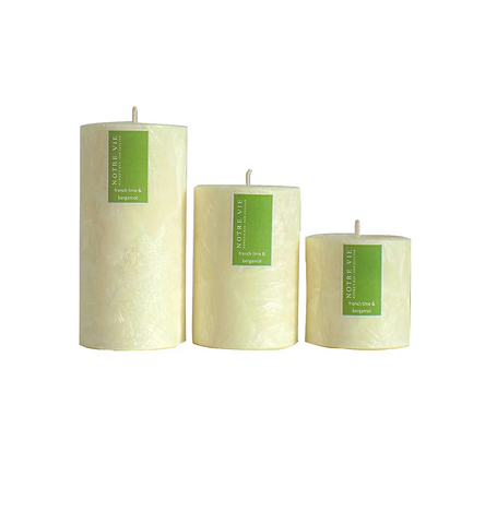 french lime and bergamot small saison candle by Notre Vie