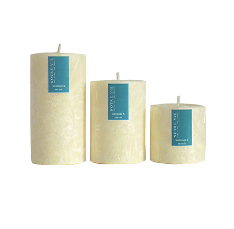 woodsage and sea salt large saison candle by Notre Vie