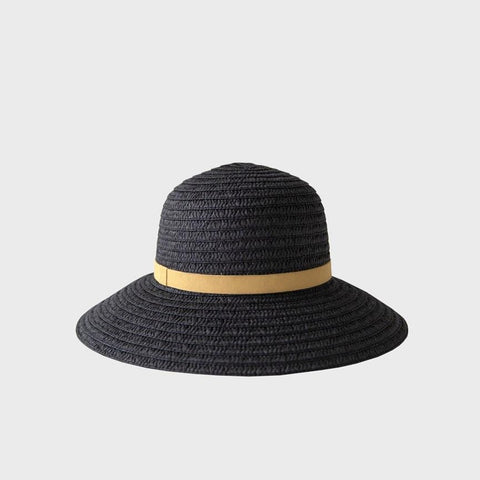 black so shady ribbon hat by Sophie