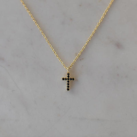 sparkle cross necklace by Sophie