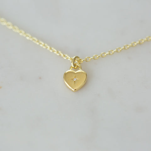 gold sweetheart necklace by Sophie