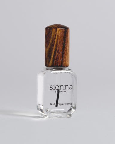 sienna top coat nail polish
