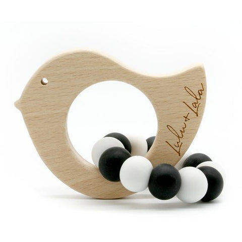 tweet black and white - non toxic teethers by Lulu + Lala