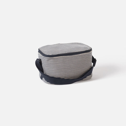 stripe cooler bag - small