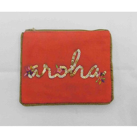 aroha pouch - coral