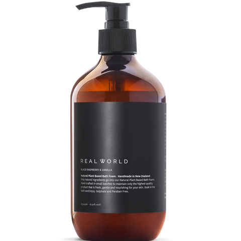 raspberry & vanilla bath foam by Real World
