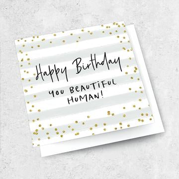 beautiful human happy birthday card