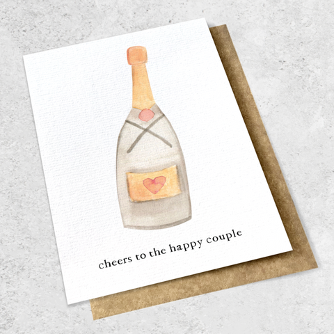 cheers to the happy couple card
