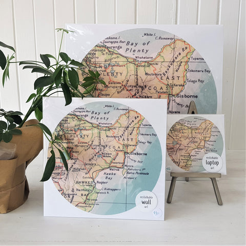 self adhesive wairoa prints - circle shape