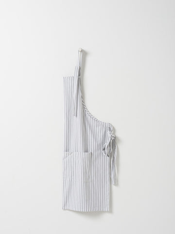 classic grey and white stripe apron