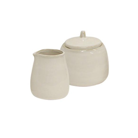 rustic white sugar pot