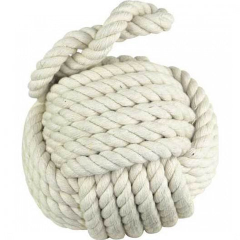 white rope doorstop