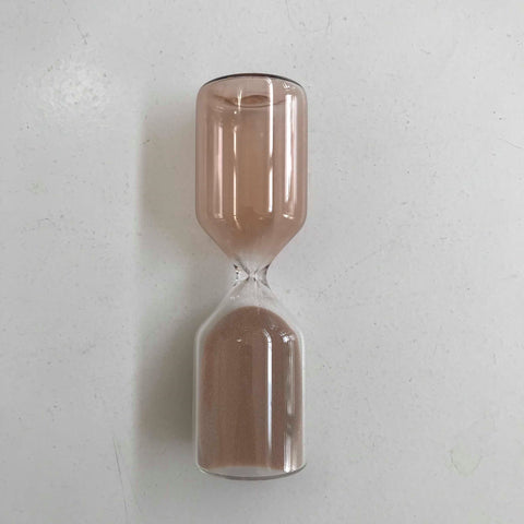 two tone dusty rose sand timer - 5 mins