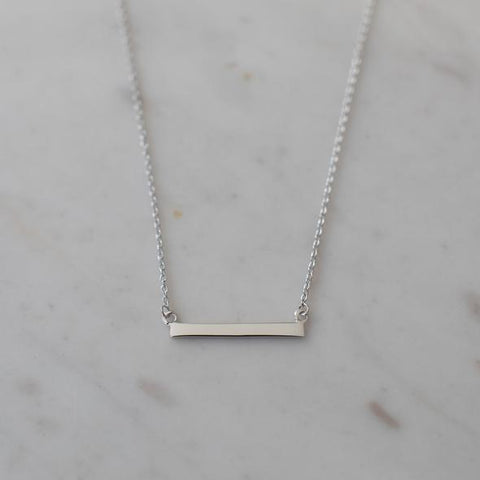 silver mini bar necklace by Sophie