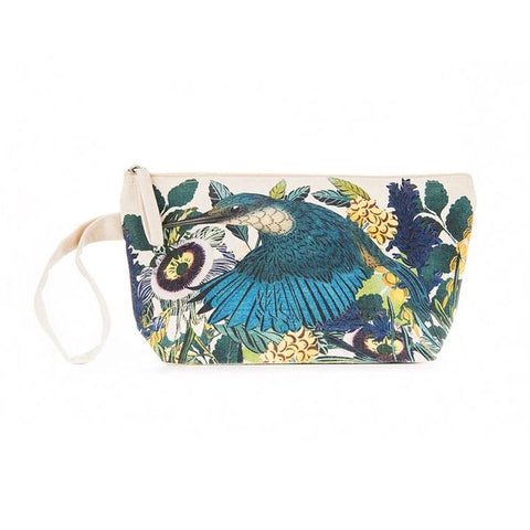flox cotton pouch wristlet - kingfisher
