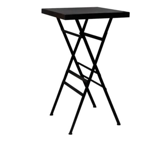 square black folding table