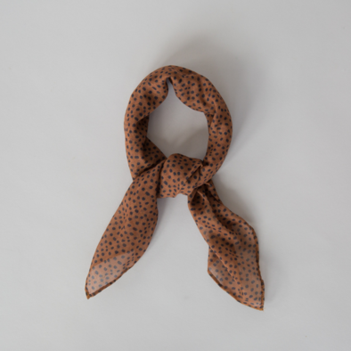 mini printed scarf freckles