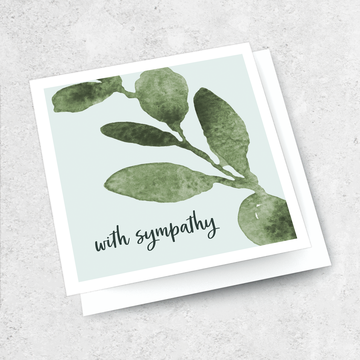 with sympathy gum leaf card