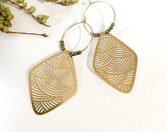 brass stencil cut hoops
