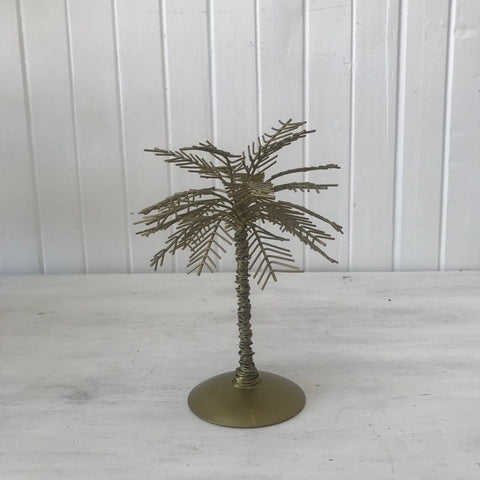brass look palm tree