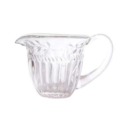 filigree small glass jug