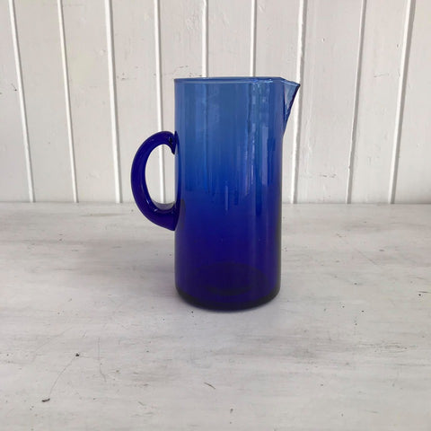 blue beldi glass jug