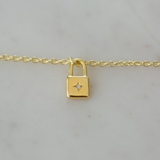 little lock necklace - gold