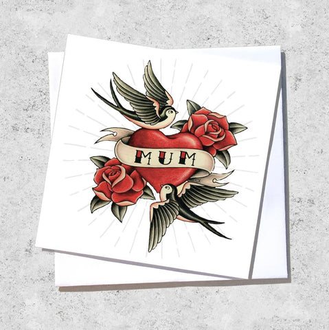 mum tattoo card