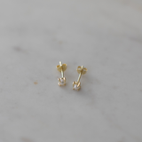 gold pearl studs by Sophie