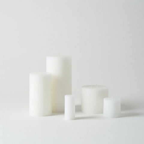 small white pillar candle from Citta