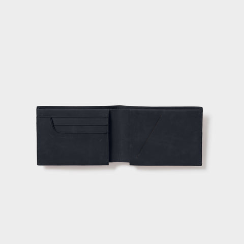 mens leather slimline wallet black