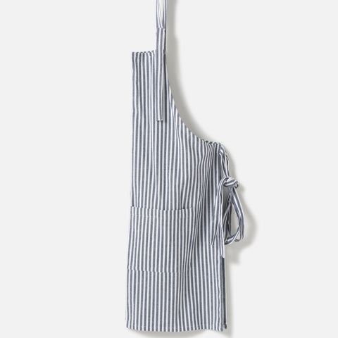 classic navy and white stripe apron