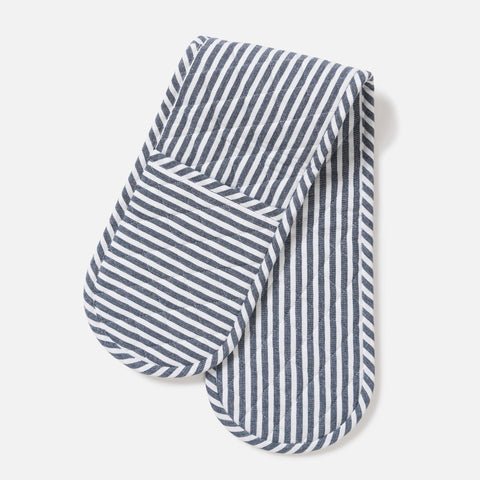 classic stripe double oven gloves