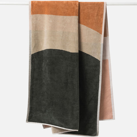 sundown organic cotton beach towel
