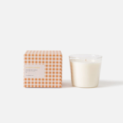 ginger & amber soy candle from Citta