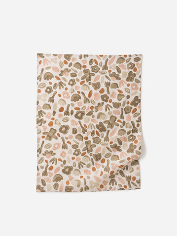 floral linen cotton tea towel