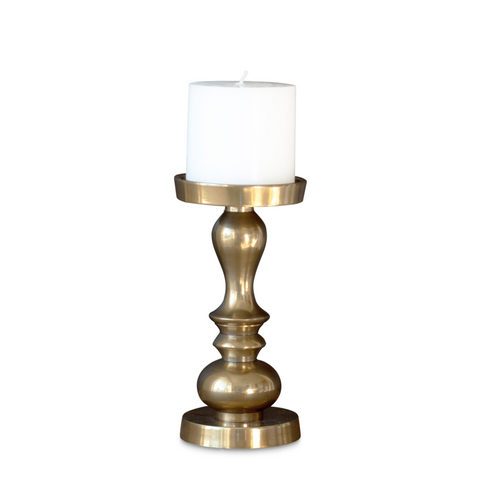 nel lusso brass candle holder